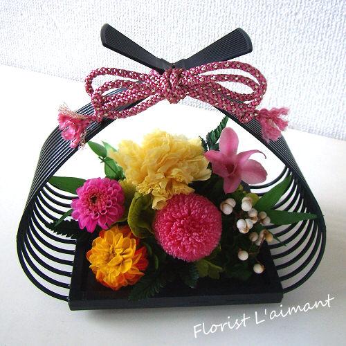 花籠01(ピンク)