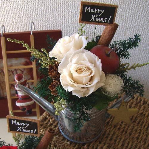 ローズポットクリスマス(ホワイト)