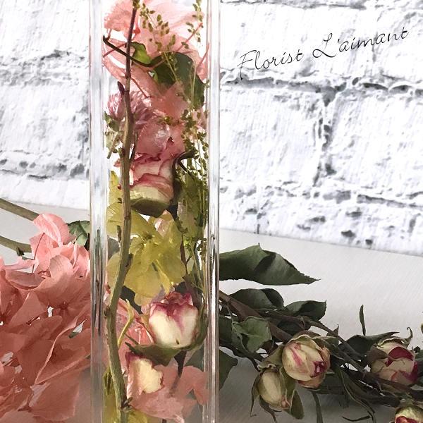 ハーバリウム「ロージー(ピンク)」02