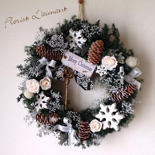 ホワイトクリスマス・リース01