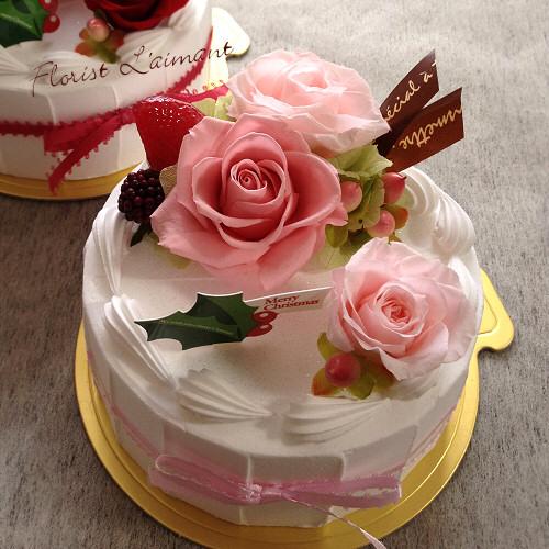 クリスマスケーキピンク01