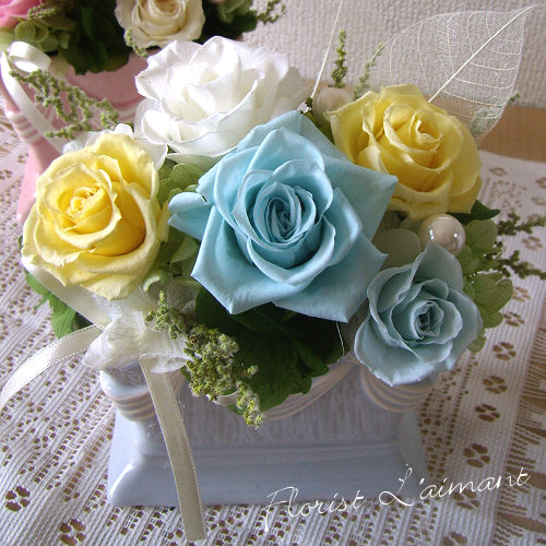ロマンティックローズ(ブルー)【プリザーブドフララワー】