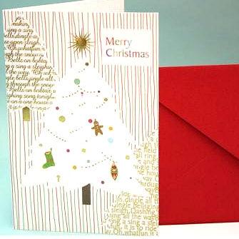 クリスマスカード・ツリー
