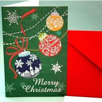 クリスマスカード・カラーボール