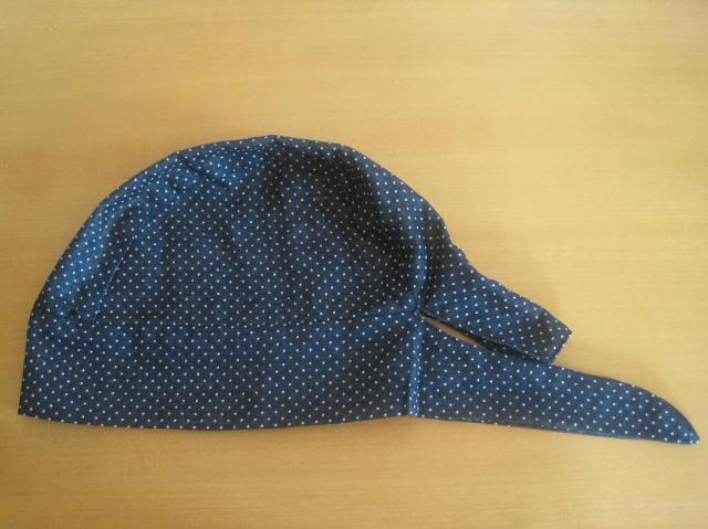 バンダナ帽子,ドット,医療用,帽子,抗がん剤