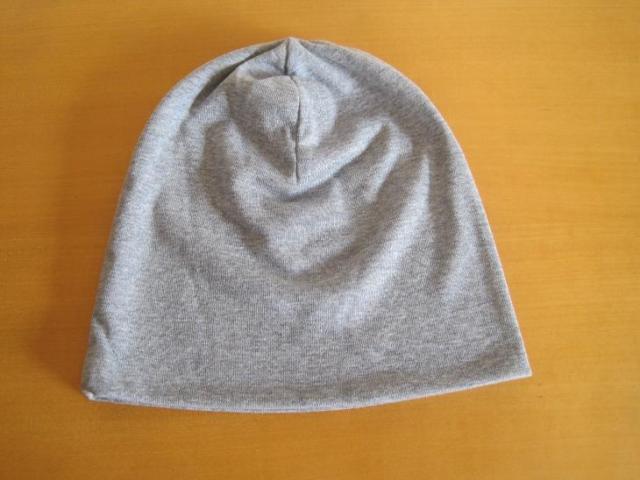 ニット帽子,オーガニックコットン,グレー,脱毛,抗がん剤
