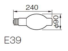 東芝ライテック  チョークレス水銀灯 一般蛍光形  BHF100-110V250W  250形