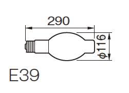 東芝ライテック  チョークレス水銀灯 一般蛍光形  BHF200-220V500W  500形