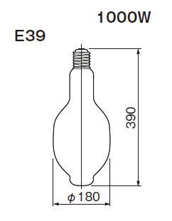 東芝ライテック  水銀灯 一般形  HF1000X  1000形 蛍光形