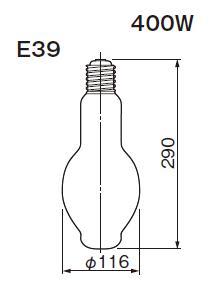 東芝ライテック  水銀灯 一般形  HF400X  400形 蛍光形