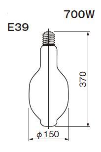 東芝ライテック  水銀灯 一般形  HF700X  700形 蛍光形
