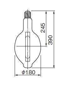 東芝ライテック  メタルハライドランプ HL-ネオハライド2 蛍光形  MF1000・L-J2/BU  1000W形