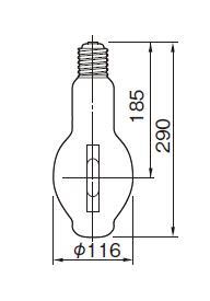 東芝ライテック  メタルハライドランプ HL-ネオハライド2 蛍光形  MF300・L-J2/BU-PS  300W形