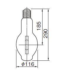 東芝ライテック  メタルハライドランプ HL-ネオハライド2 蛍光形  MF400・L-J2/BU-PS  400W形