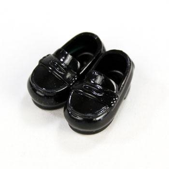オビツ11センチ用ローファー靴 マグネット付  黒11SH-F003BK-G