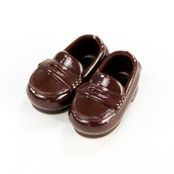 オビツ11センチ用ローファー靴 マグネット付  茶11SH-F003BR-G
