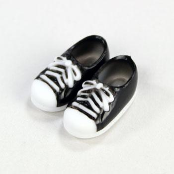 オビツ11センチ用スニーカー靴 マグネット付  黒11SH-F004BK-G
