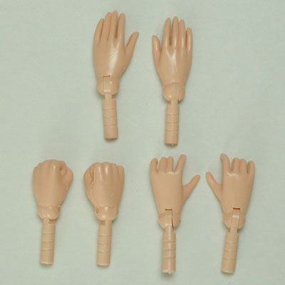オビツ27センチ男性スリム開き手・握り手・持ち手セット/ナチュラル27RP-M01-23