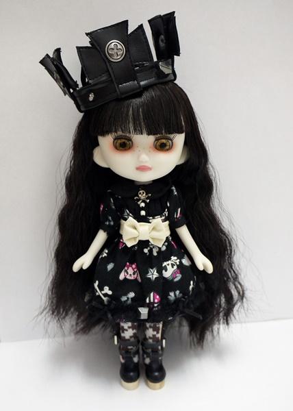 はだかんぼうのおでこちゃん020 +ブラックアリスドレスセット