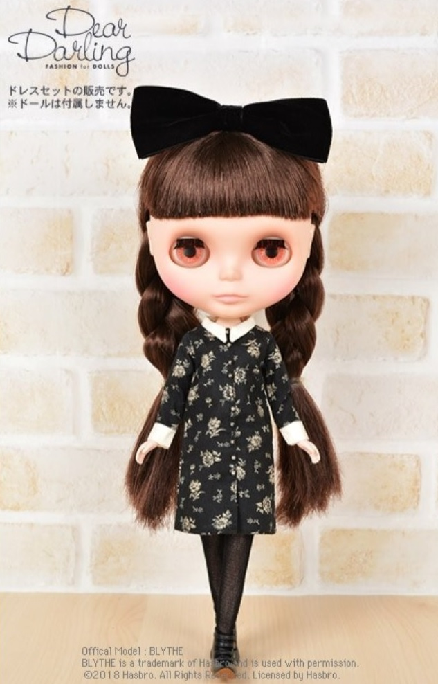 Dear Darling fashion for dolls「Dark Wednesday」フラワー