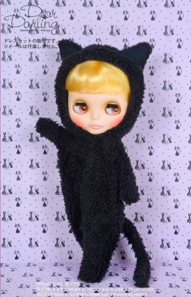 Dear Darling fashion for dolls「Hug-able Black Cat(ハガブル ブラックキャット)」