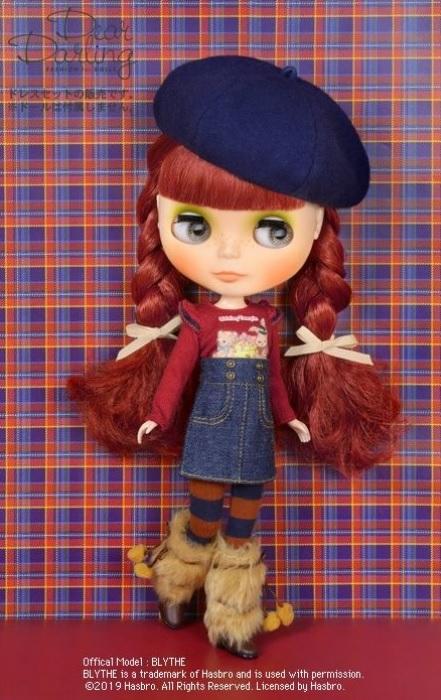 Dear Darling fashion for dolls「シャーリーテンプル ウサギクマロングTシャツ」