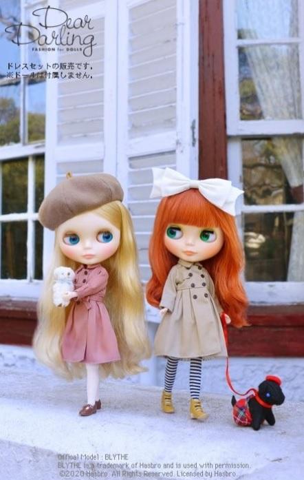Dear Darling fashion for dolls「フレアトレンチコート」