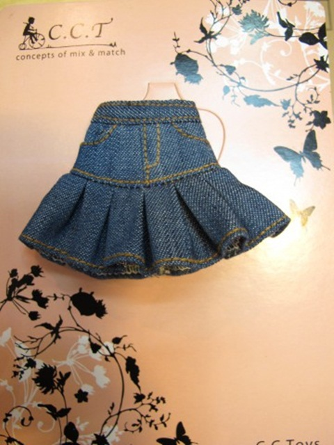 CCTデニムスカート(ブルー)