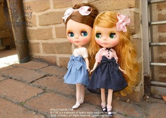 Dear Darling fashion for dolls 「デニムフィッシュテイルスカート」ライトインディゴ