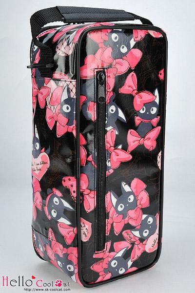 CoolCat シンプルキャリーショーバッグ/黒猫リボンブラックSC-25