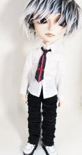 HS タイ付きシャツ/白 テヤンサイズtt008