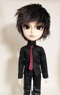 HS タイ付きシャツ/黒 テヤンサイズtt013