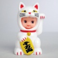 かぶりものキューピー【招き猫】