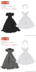 1/12クラシカルロングメイド服(半袖)set PIC325