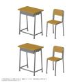 1/6 学校の机と椅子 AZP001-SDC