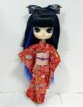 ダル/花菖蒲(はなあやめ)ヌード+ドリーウェア着物「いろは」セット