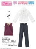 PNXS男の子ニットベスト制服set ボルドー×ダークグレー ALB195-BRG