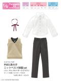 PNXS男の子ニットベスト制服set キャメル×ダークブラウン ALB195-CMB