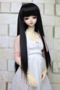 DOLKオリジナル9〜10インチウィッグ BK-L0021D(Black)