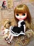 CCTブラック&ホワイトゴシックドレス