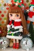 BHCミディブライスサイズクリスマスツリードレスセットmd048