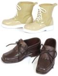 Shoes Selectionタッセルシューズ(ブラウン)×ショートブーツ(ベージュ)テヤンサイズ