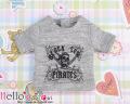 coolcat 半袖プリントTシャツ/ブラックシー グレー PR-87