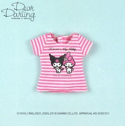 Dear Darling fashion for dolls「マイメロディ&クロミTシャツ」
