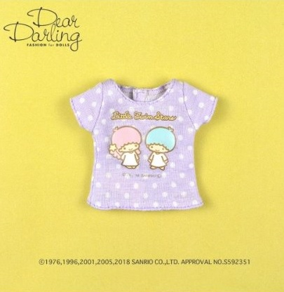 Dear Darling fashion for dolls「リトルツインスターズTシャツ」