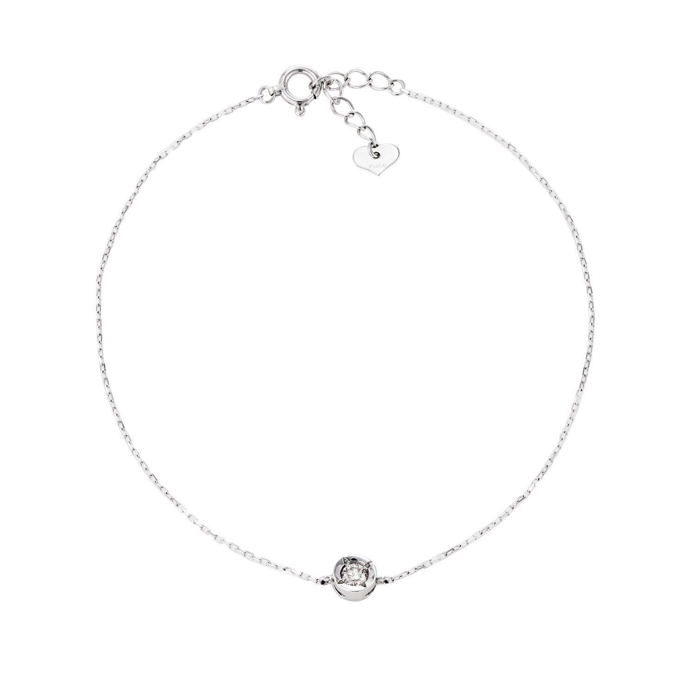 ダイヤモンド 1石 ブレスレット 0.1ct PT900 プラチナ ララクリスティー