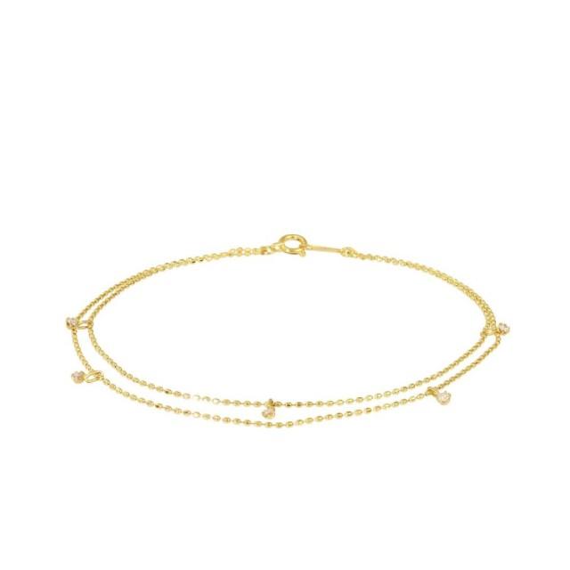 ブレスレットレディースK18ダイヤモンドステーションララクリスティーorderHighjewelry