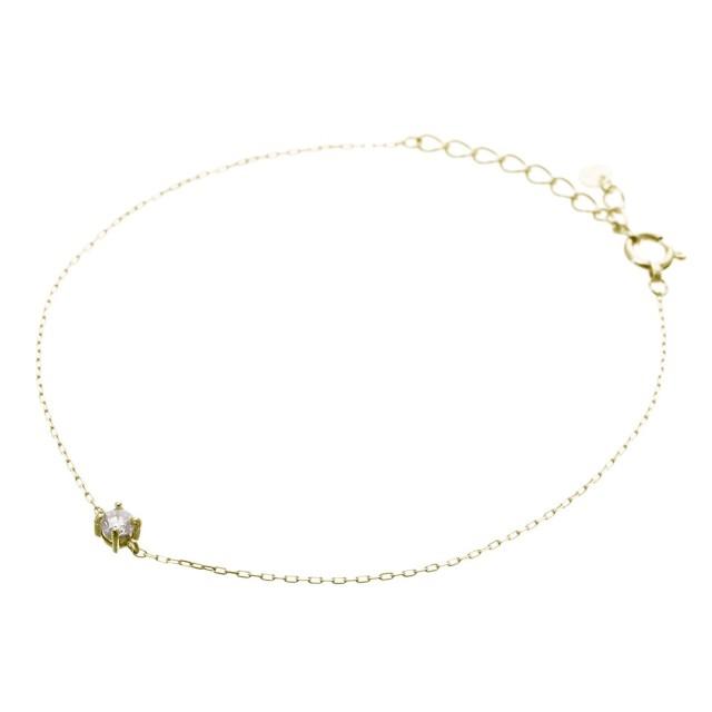 ブレスレットレディースK18YGダイヤモンド0.1ctララクリスティーorderHighjewelry