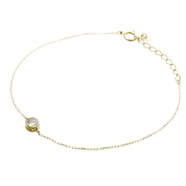 ブレスレットレディースK18YGダイヤモンド0.2ctララクリスティーorderHighjewelry