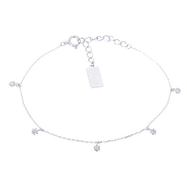 ダイヤモンド 0.15ct ブレスレット レディース プラチナ PT900の正面